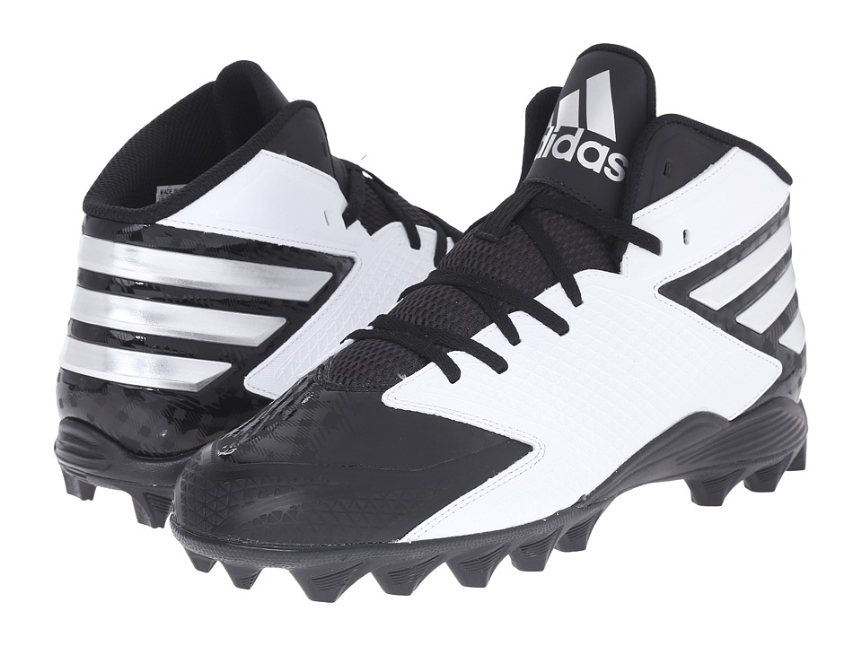 adidas - Filthyquick 3.0 Mid Football (Black/Platinum/White) Men's Cleated Shoes