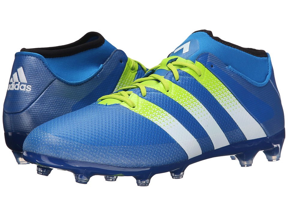adidas - Ace 16.2 Primemesh FG/AG Soccer (Semi Solar Slime/White/Black) Men's Cleated Shoes