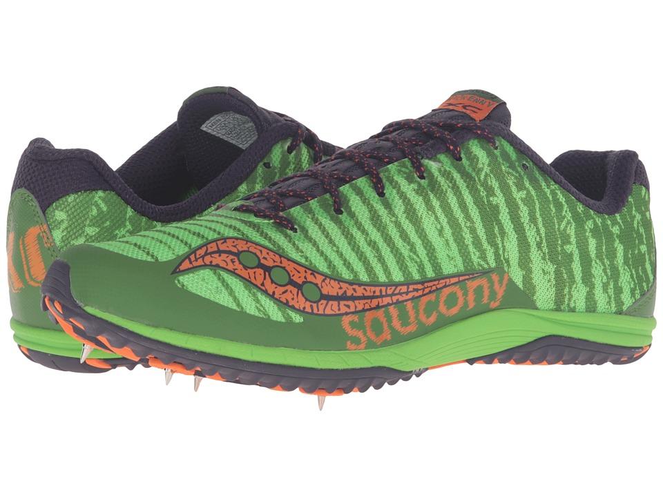 Saucony - Kilkenny XC Spike (Green/Orange) Men's Track Shoes