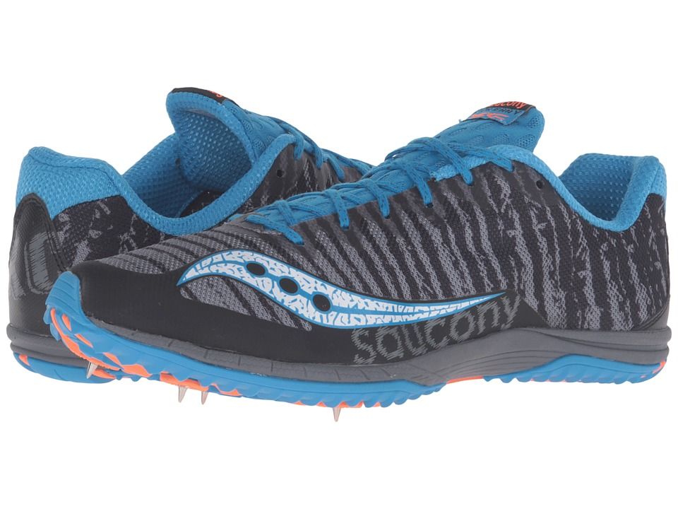 Saucony - Kilkenny XC Spike (Black/Carolina) Men's Track Shoes