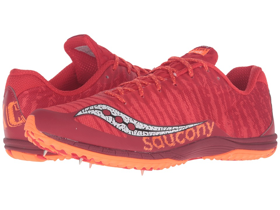 Saucony - Kilkenny XC Spike (Red/Vizi Orange) Men's Track Shoes