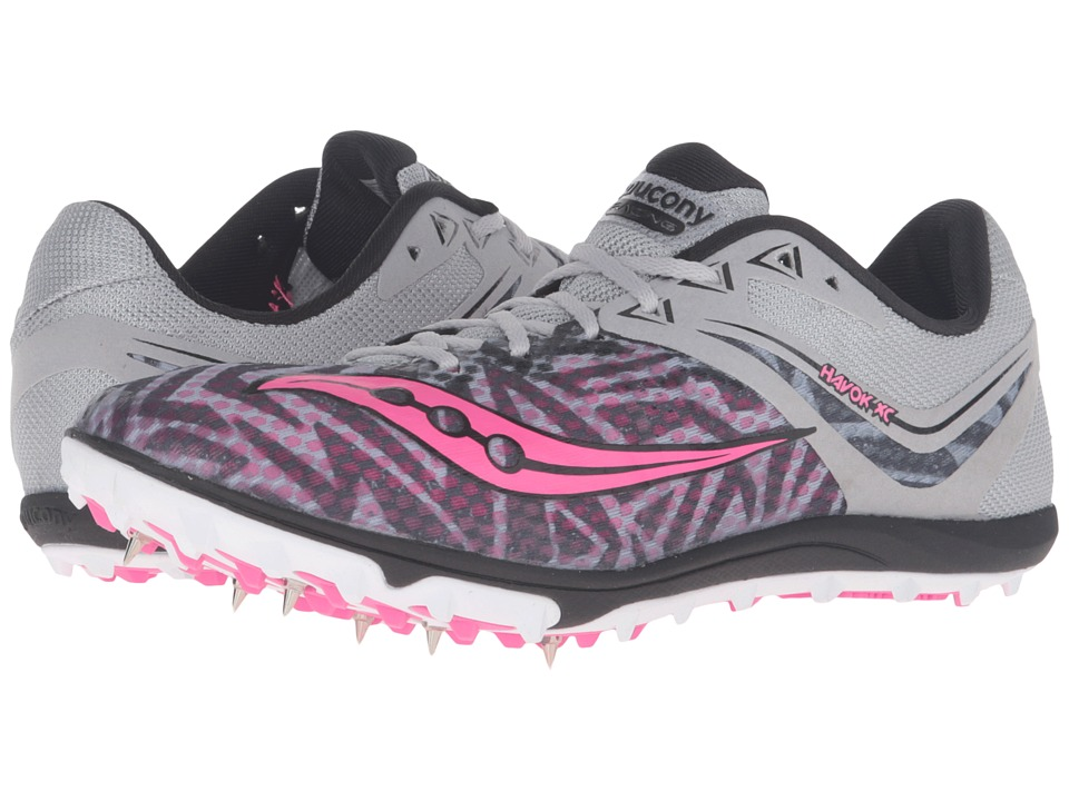 Saucony Havok XC Spike (Silver/Vizi Pink) Women's Track Shoes