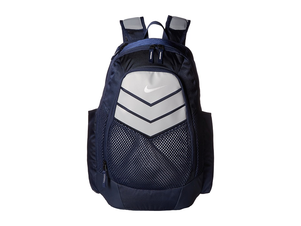 Nike - Vapor Power Backpack (Midnight Navy/Wolf Grey/Metallic Silver) Backpack Bags