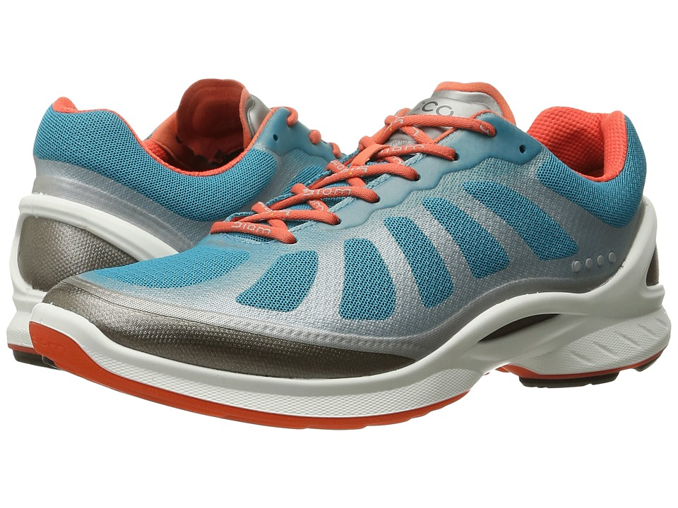 ECCO Sport - Biom Fjuel Racer (Silver Metallic/Capri Breeze/Coral Blush) Women's Shoes