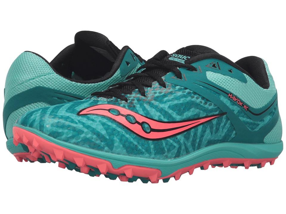 Saucony - Havoc XC Flat (Teal/Vizi Coral) Women's Track Shoes