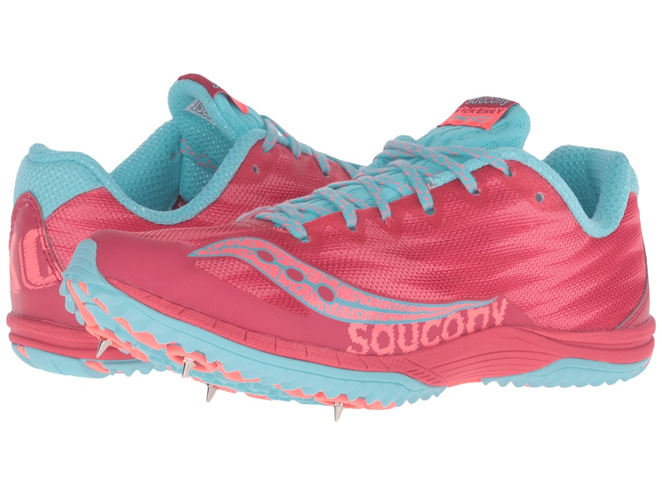 Saucony - Kilkenny XC Spike (Berry/Light Blue) Women's Shoes