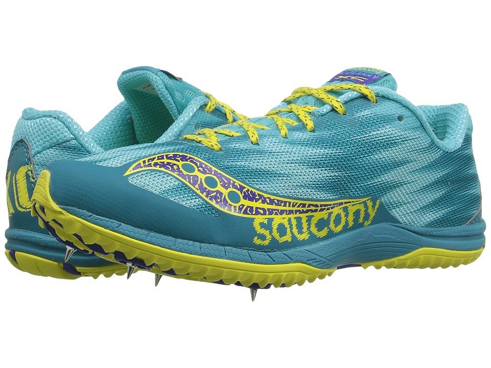 Saucony - Kilkenny XC Spike (Teal/Yellow) Women's Shoes