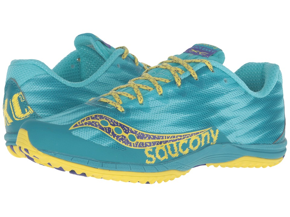 Saucony - Kilkenny XC Flat (Teal/Yellow) Women's Shoes