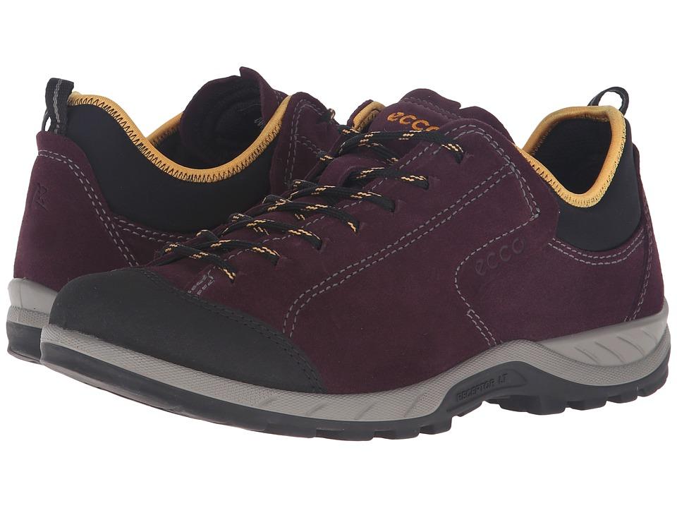 ECCO Sport - Yura Low (Black/Mauve) Women's Walking Shoes