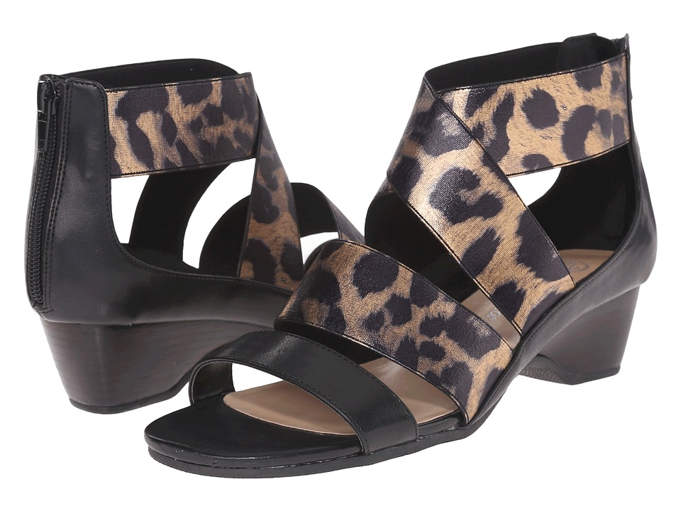 Bella-Vita - Paloma II (Black/Leopard) Women's Sandals
