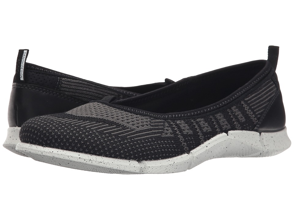 ECCO Sport - Intrinsic Karma Flat (Black/Dark Shadow/Black) Women's Flat Shoes