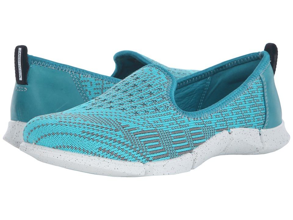 ECCO Sport - Intrinsic Karma Slip-On (Fanfare/Turquoise/Moon) Women's Slip on Shoes