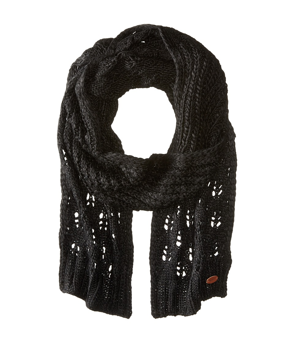 Roxy - Let Me Ride Knit Scarf (True Black) Scarves