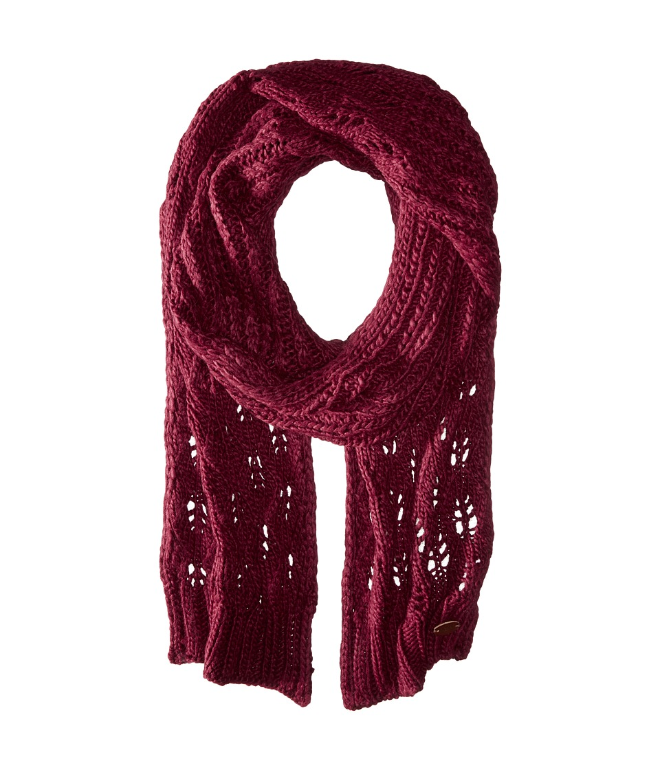 Roxy - Let Me Ride Knit Scarf (Burgundy) Scarves