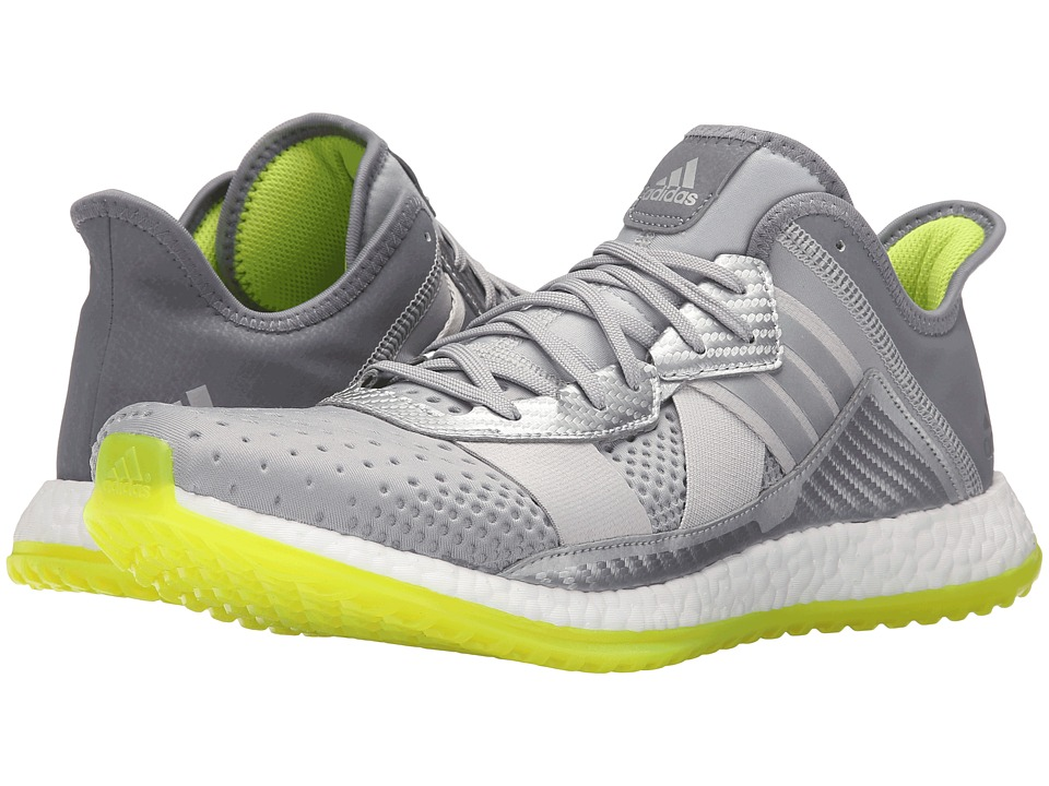 adidas - Pureboost ZG Trainer (Silver Metallic/White/Semi Solar Slime) Men's Cross Training Shoes