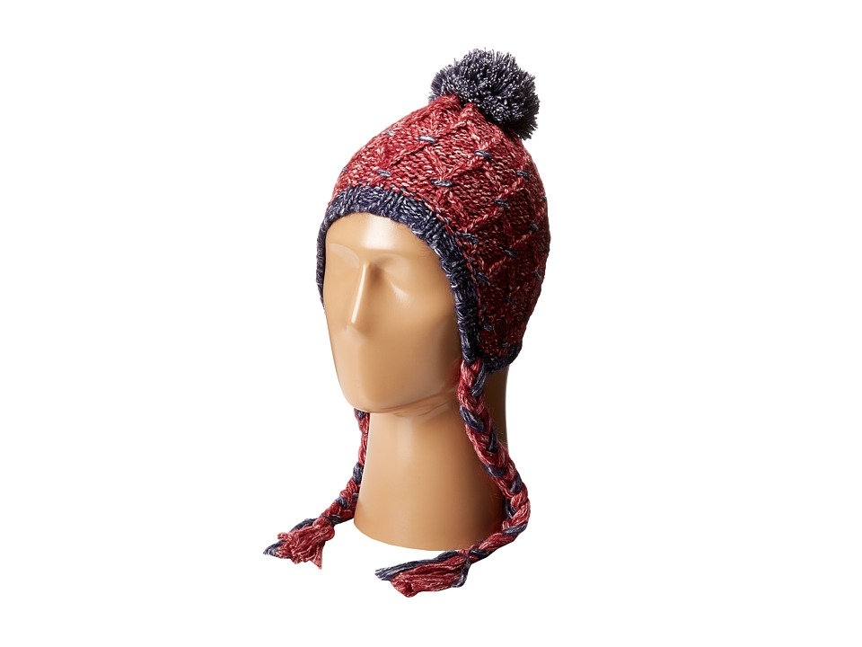 Roxy - Down Rail Knit Beanie (Burgundy) Beanies