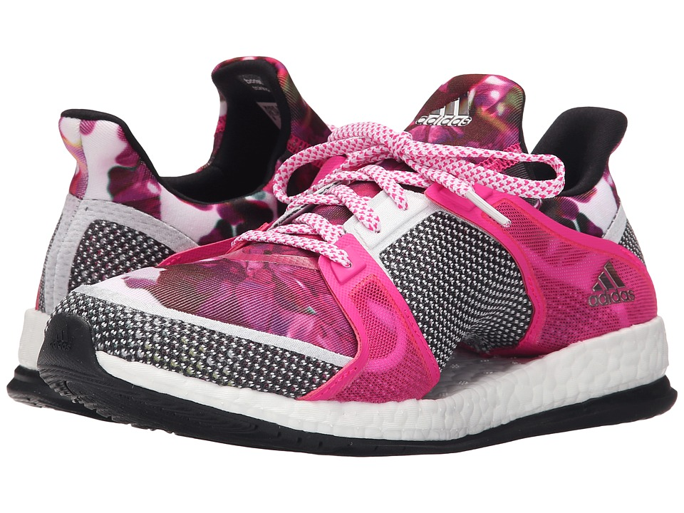 adidas - Pure Boost X Trainer (White/Black/Shock Pink) Women's Cross Training Shoes