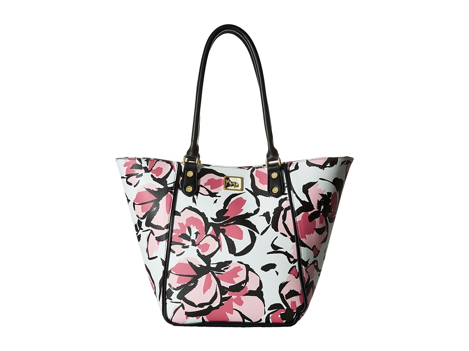 Emma Fox - Magnolia North/South Tote (Pink Floral) Tote Handbags