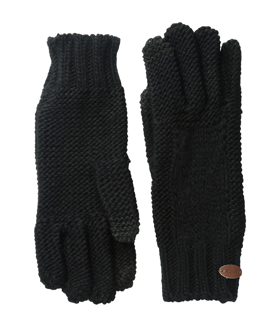 Roxy - In Charge Knit Gloves (True Black) Extreme Cold Weather Gloves