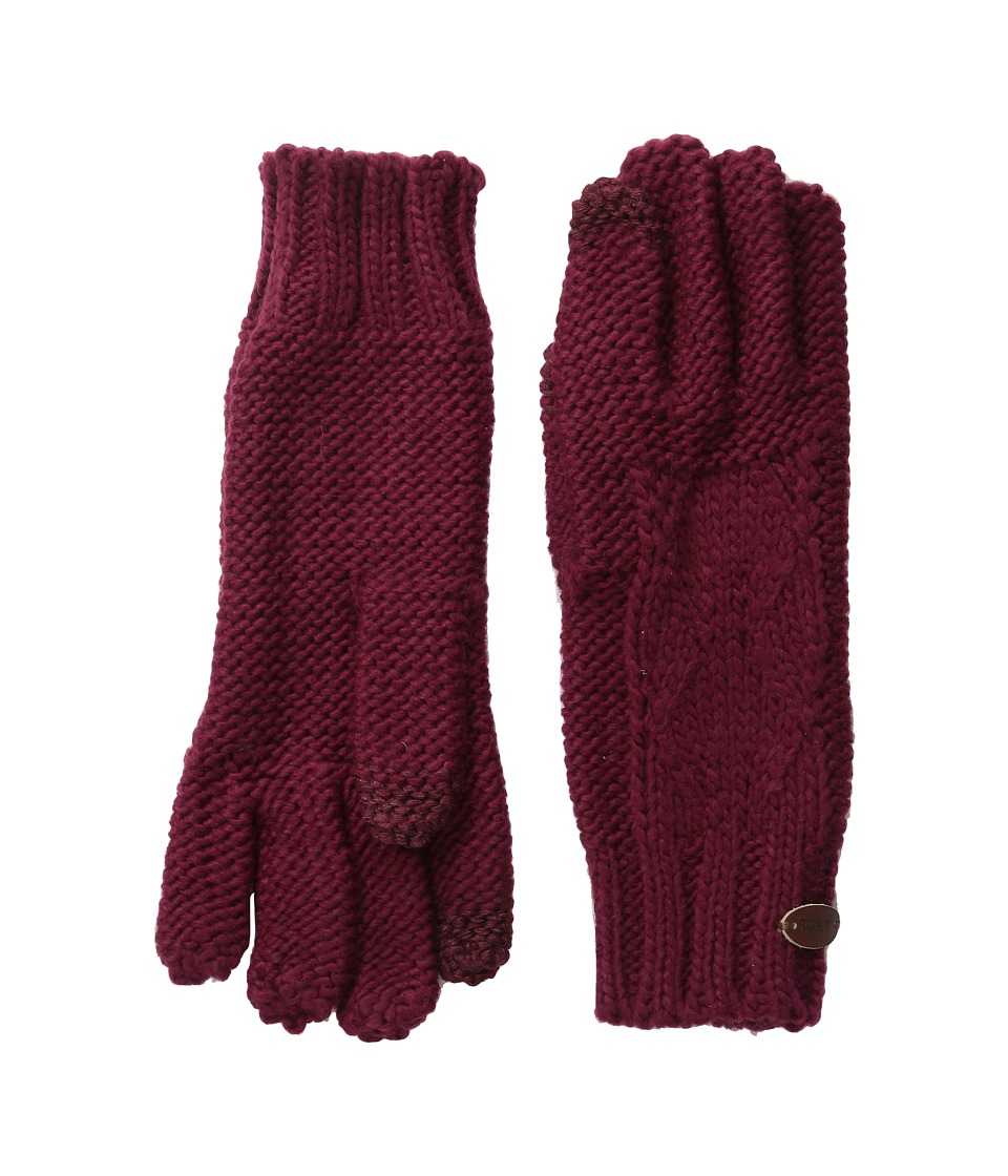 Roxy - In Charge Knit Gloves (Burgundy) Extreme Cold Weather Gloves