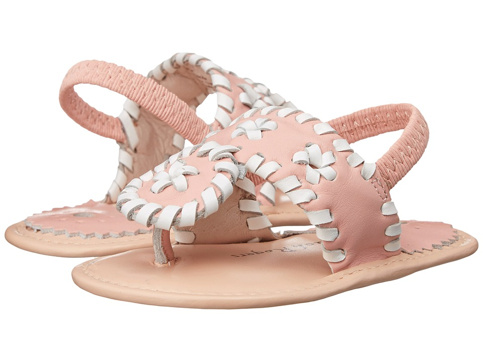Jack Rogers - Baby Jacks (Infant) (Pink/White) Women's Sling Back Shoes