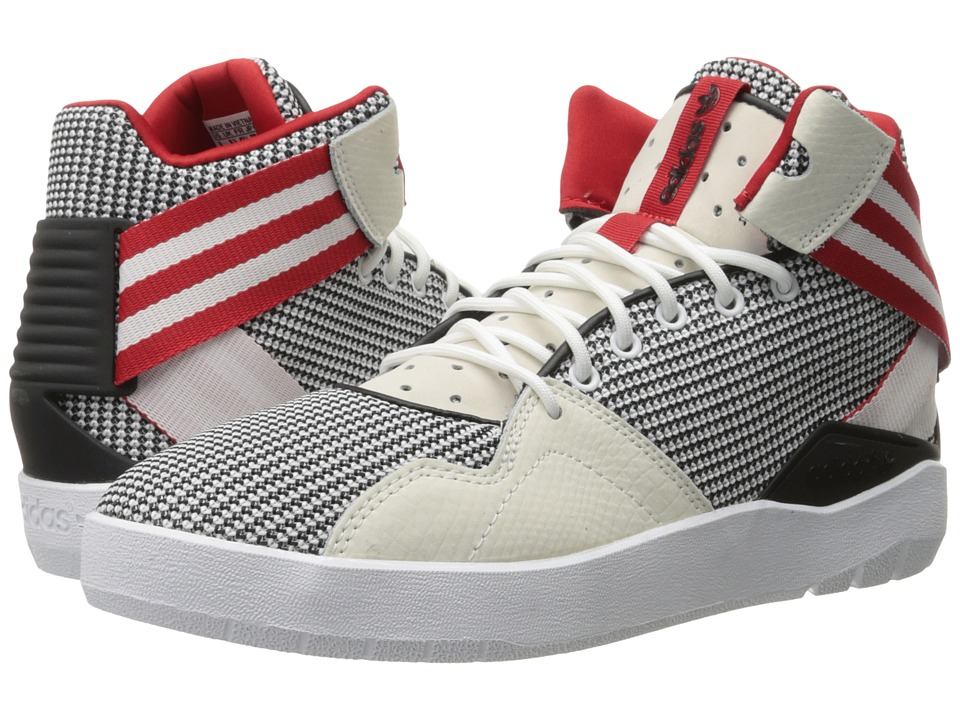 adidas Originals Crestwood Mid (White/Black/Scarlet) Men