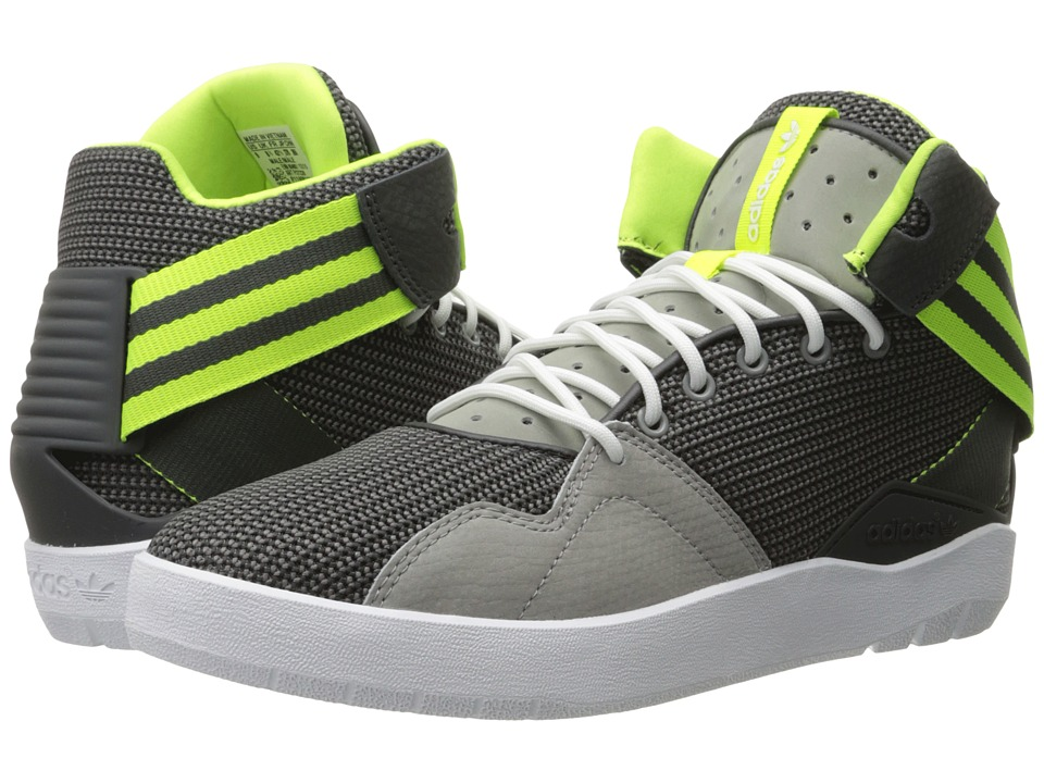 adidas Originals - Crestwood Mid (Charcoal Solid Grey/Solar Yellow/Dark Grey Heather Solid Grey) Men's Shoes