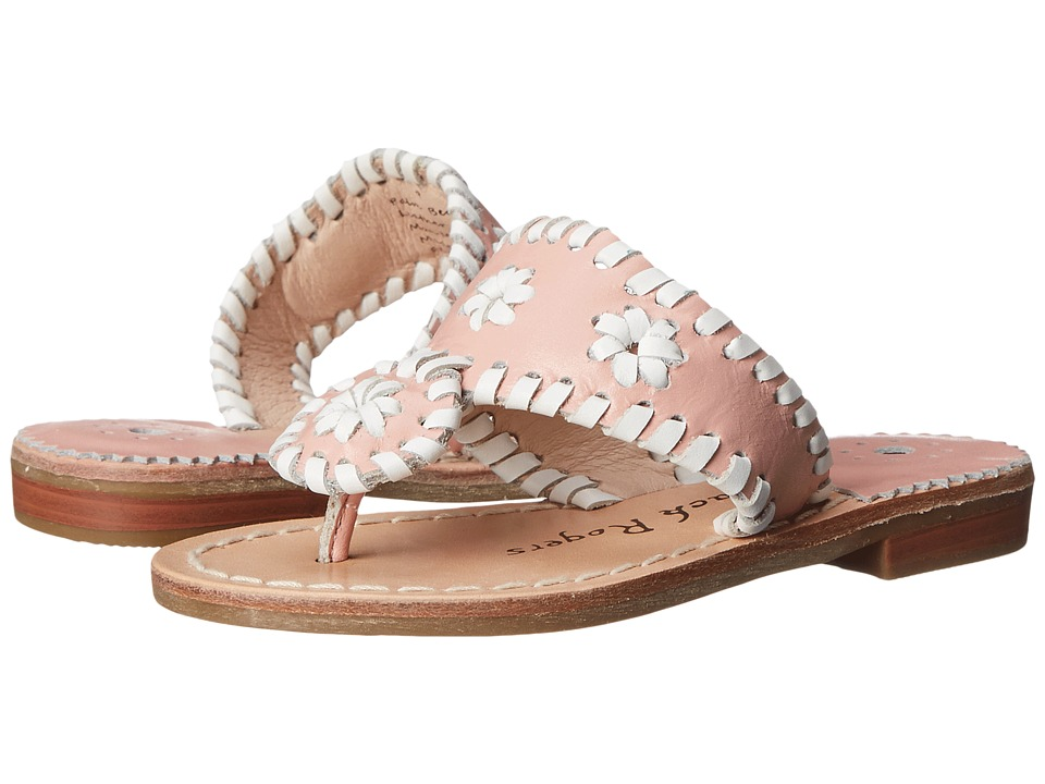 Jack Rogers - Miss Palm Beach (Toddler/Little Kid/Big Kid) (Blush/White) Women's Sandals