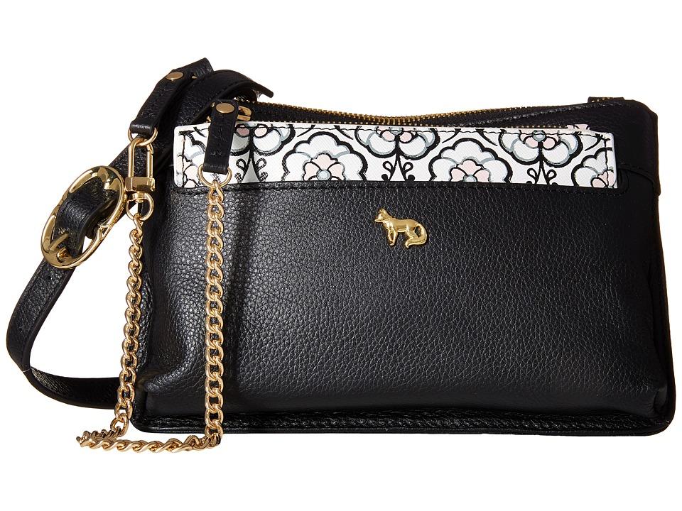 Emma Fox - Savannah Crossbody (Black) Cross Body Handbags