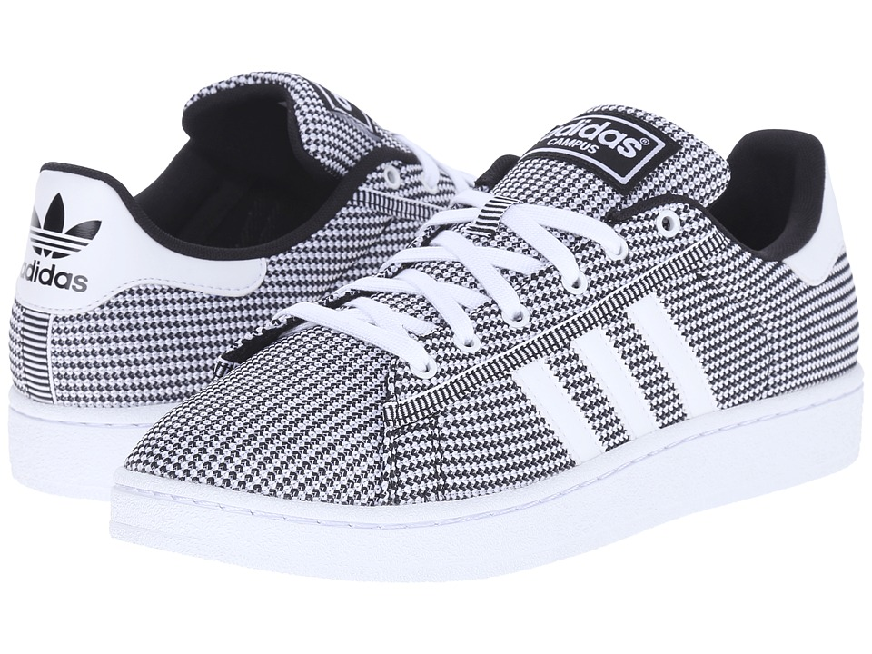 adidas Originals - Campus Mesh (White/White/Black) Men's Basketball Shoes