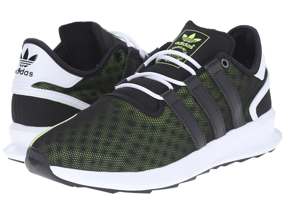 adidas Originals - SL Rise Premium (Black/Solar Yellow/White) Men's Running Shoes