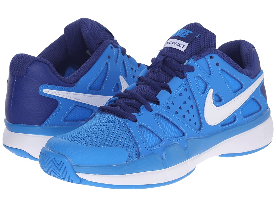 Nike - Air Vapor Advantage (Phote Blue/White/Deep Royal Blue) Women's Tennis Shoes