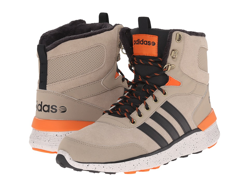 adidas - Lite Racer Hi (Cark/Black/Orange) Men's Shoes