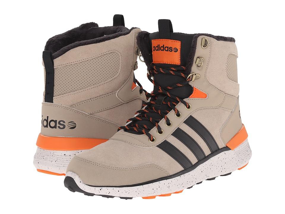 adidas - Lite Racer Hi (Cark/Black/Orange) Men's Shoes