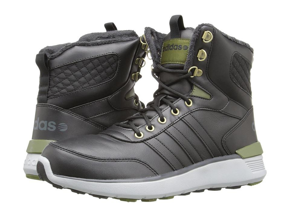 adidas - Lite Racer Hi (Black/Black/Green) Men's Shoes