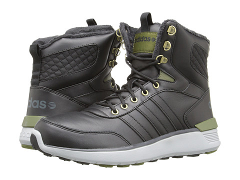 adidas - Lite Racer Hi (Black/Black/Green) Men's Shoes