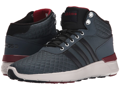 adidas - Lite Racer Mid (Lead/Onix/Burgundy) Men's Shoes