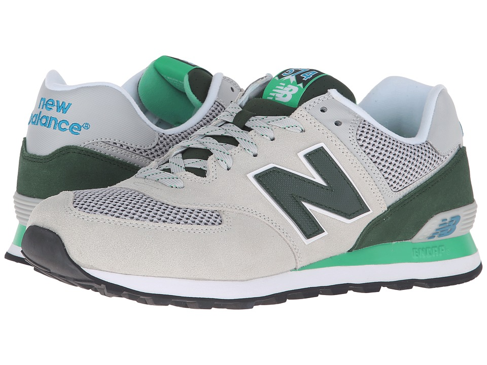 New Balance Classics - ML574 (Grey/Green) Men's Shoes