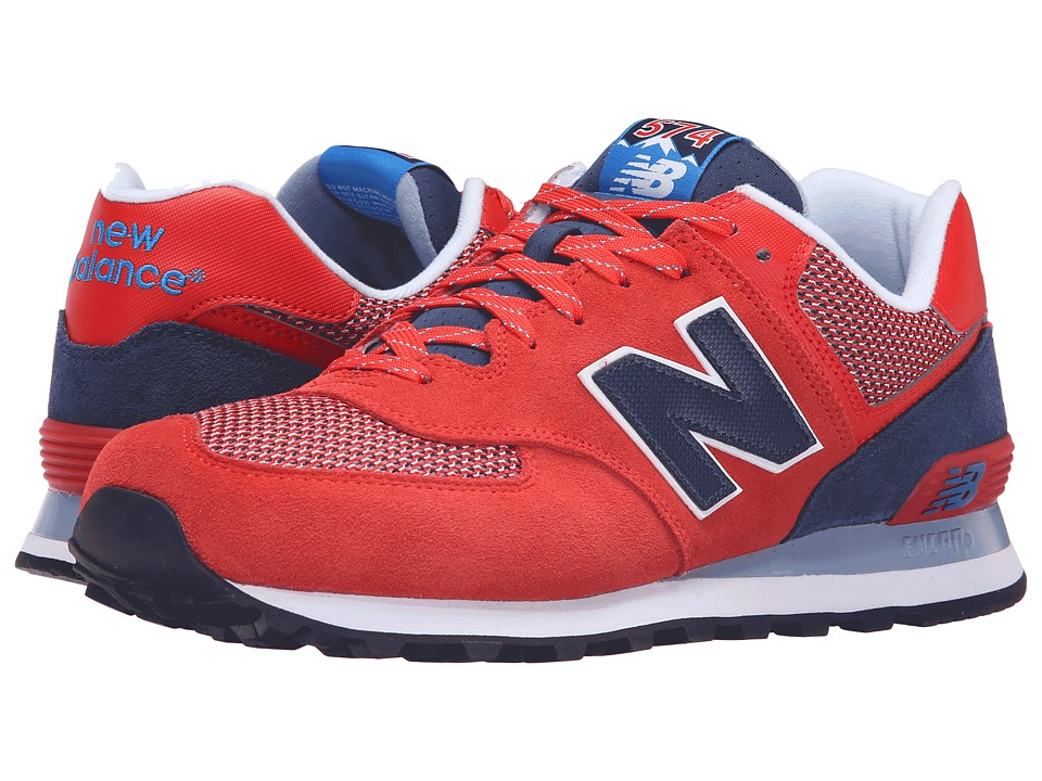 New Balance Classics - ML574 (Red/Navy) Men's Shoes