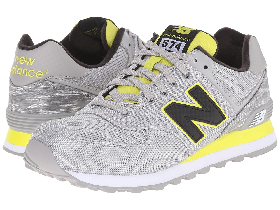 New Balance Classics - ML574 (Grey/Yellow) Men's Shoes