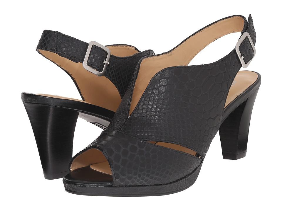 Bella-Vita Leona (Black Crocco) High Heels