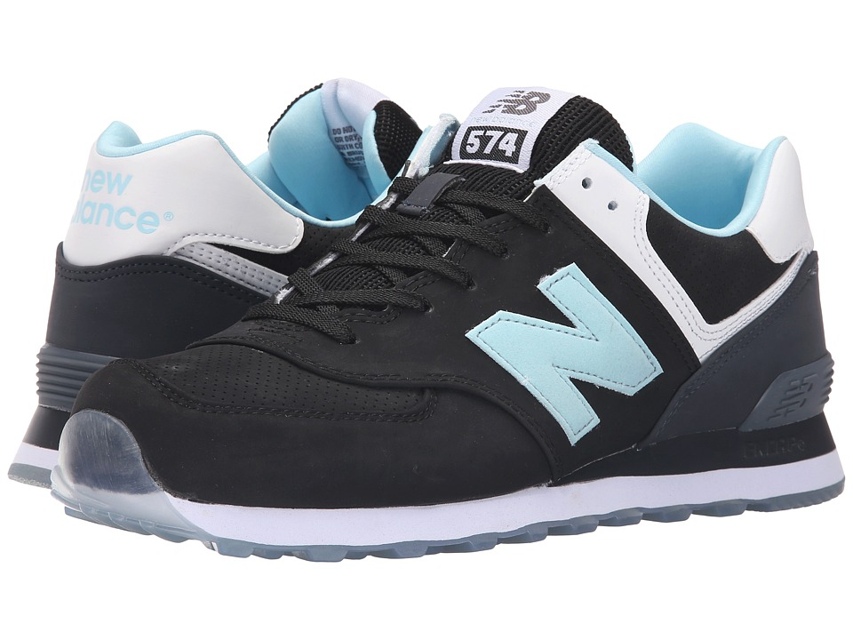 New Balance Classics - ML574 (Black/Blue) Men's Shoes