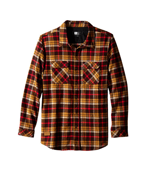 Rip Curl Kids - Avalon Long Sleeve Flannel (Big Kids) (Brown) Boy