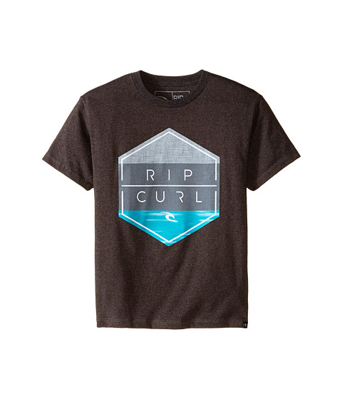 Rip Curl Kids - Overruled Heather Tee (Big Kids) (Charcoal) Boy