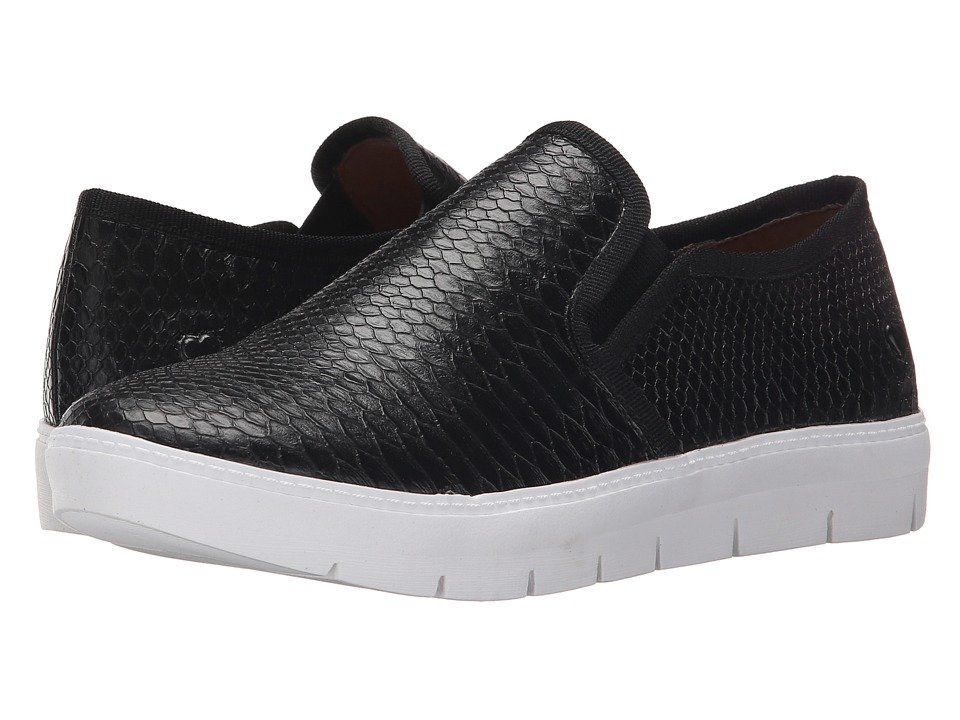 Nurse Mates - Adela (Black Reptile) Women's Slip on Shoes