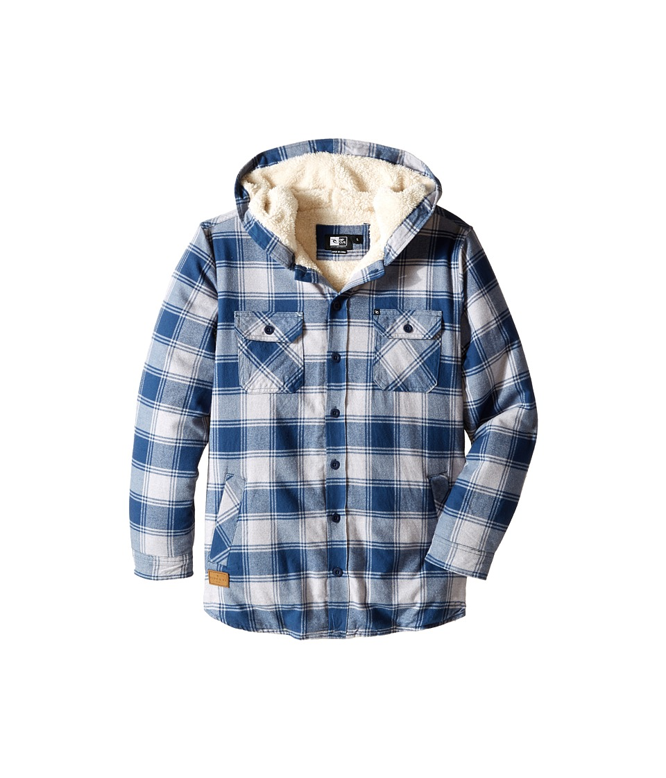 Rip Curl Kids - Hayes Long Sleeve Flannel (Big Kids) (Off-White) Boy's Coat