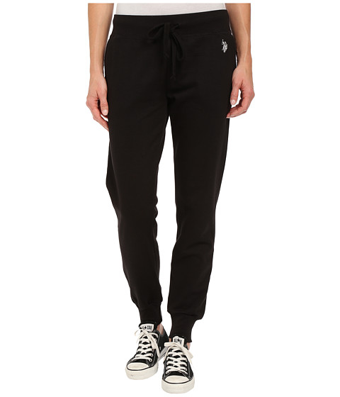 U.S. POLO ASSN. - Fleece Jog Pants (Black) Women's Casual Pants