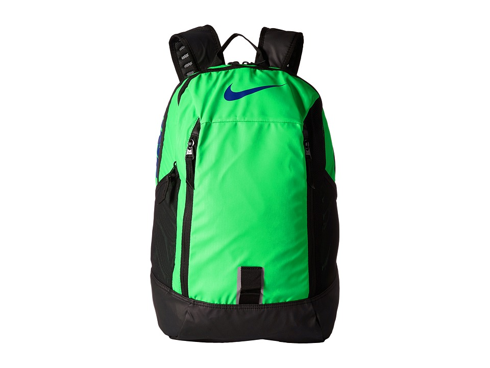 Nike Alpha ADPT Rise Backpack (Green Spark/Black/Deep Royal Blue) Backpack Bags