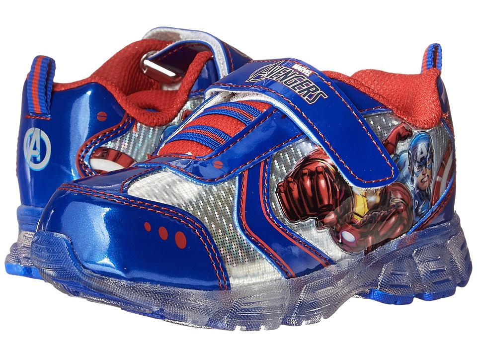 Favorite Characters - Avengers Sneaker Lighted (Toddler/Little Kid) (Royal/Red/White) Boys Shoes