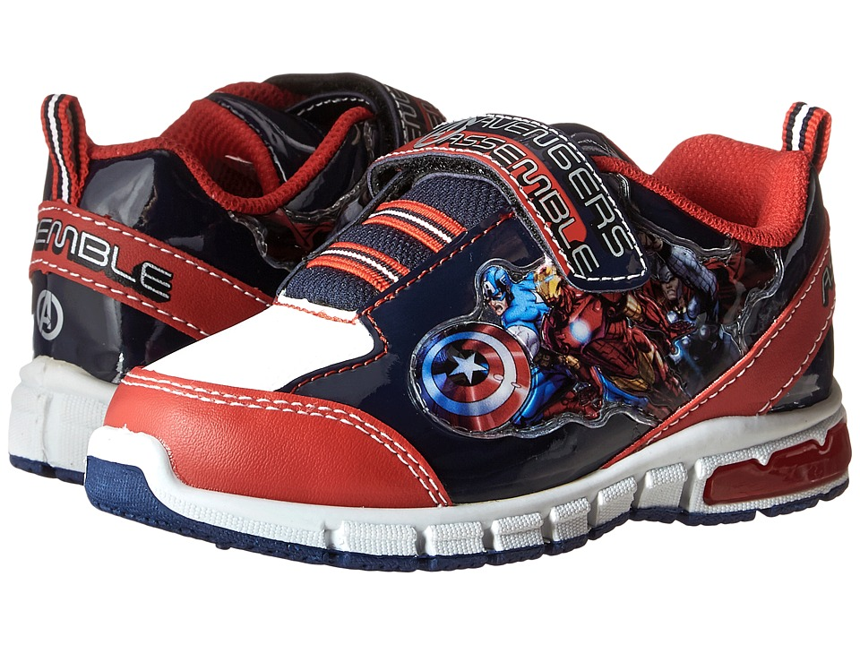 Favorite Characters - Avengers Sneaker Lighted (Toddler/Little Kid) (Red/White/Royal) Boys Shoes